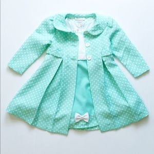 Bonnie Jean dress with matching jacket